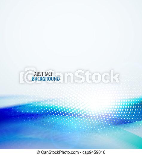 абстрактные, задний план, волна - csp9459016