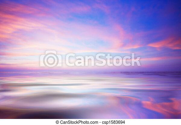 абстрактные, закат солнца, океан - csp1583694