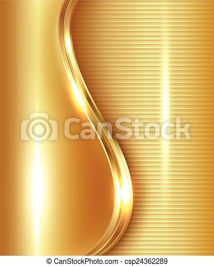 абстрактные, золото, задний план - csp24362289