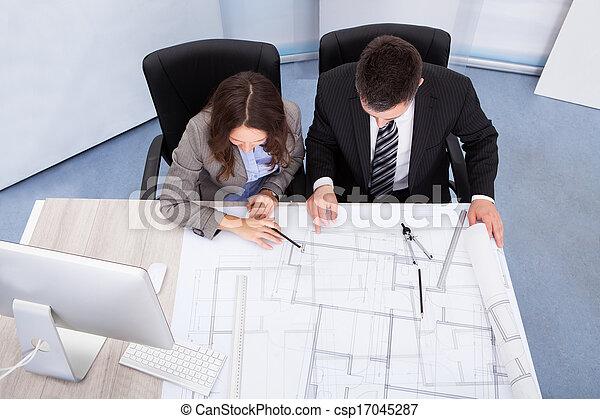 архитектор, discussing, два - csp17045287