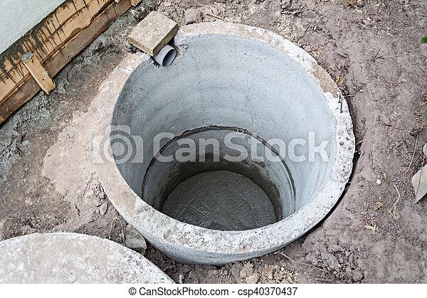 Бетон яма обои синий бетон