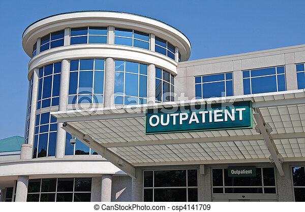 больница, знак, вход, амбулаторный - csp4141709
