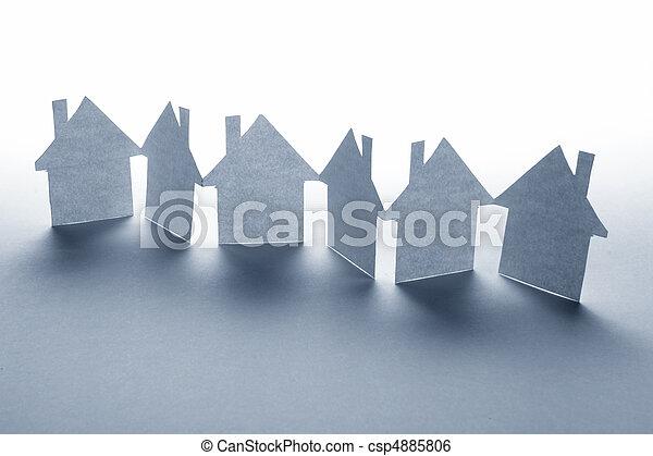 бумага, дом - csp4885806