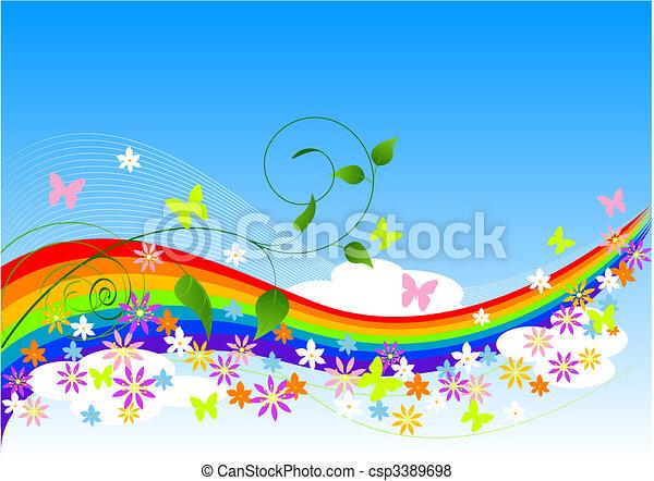 весна, абстрактные, задний план - csp3389698