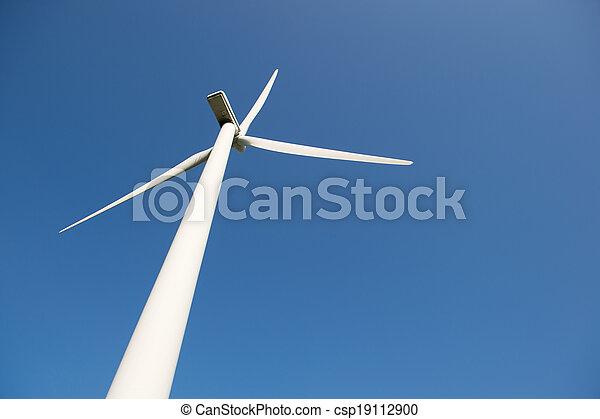 ветряная мельница, синий, энергия, небо, против, ветер - csp19112900