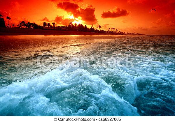 восход, океан - csp6327005