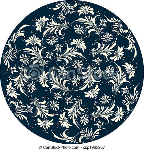 декоративный, цветочный, задний план - csp1962957