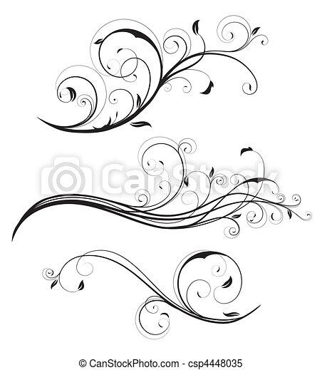 декоративный, цветочный, elements - csp4448035