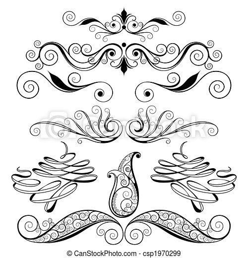 декоративный, цветочный, elements, дизайн - csp1970299