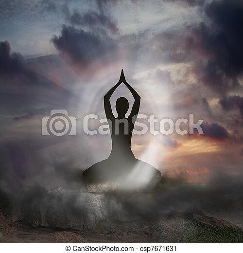 духовность, йога - csp7671631