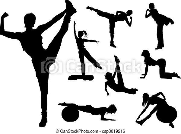 женщина, фитнес - csp3019216