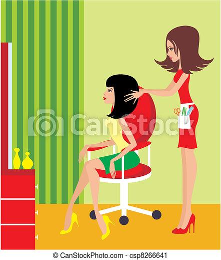 женщина, salon., красота - csp8266641