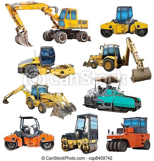 задавать, машины, строительство - csp8409742