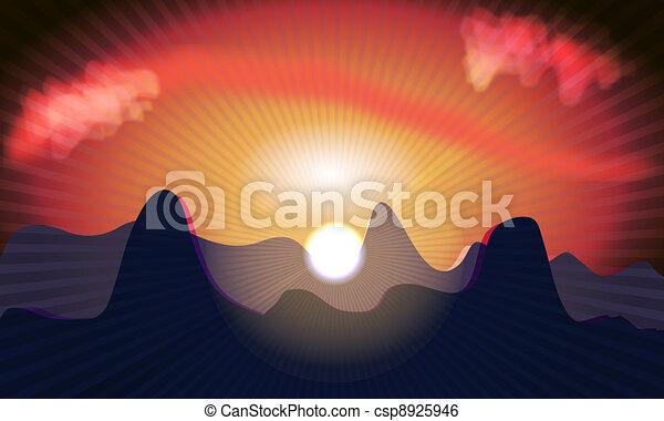 закат солнца - csp8925946