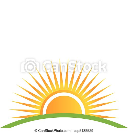 закат солнца, горизонт - csp5138529