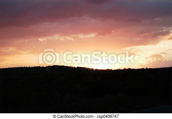 закат солнца - csp0406747
