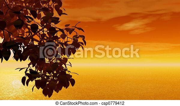 закат солнца - csp0779412