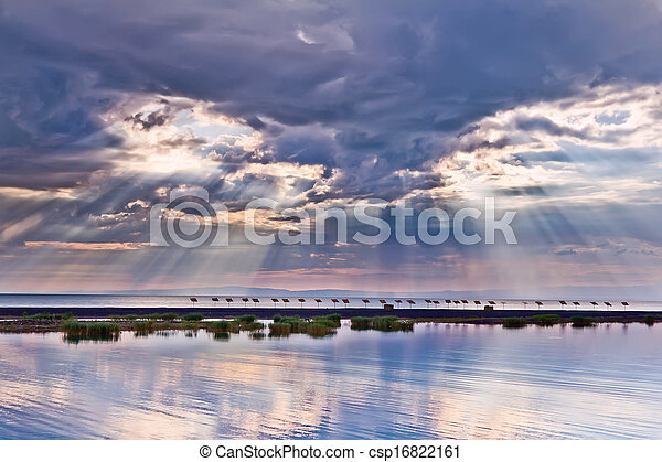 закат солнца, море, cloudscape - csp16822161