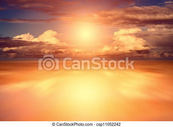 закат солнца - csp11052242