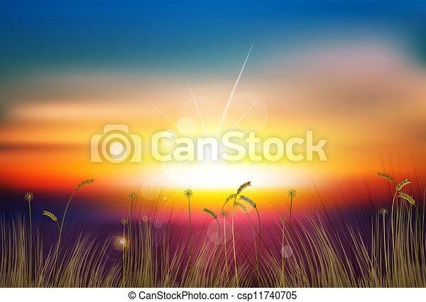 закат солнца - csp11740705