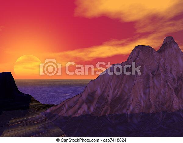 закат солнца - csp7418824