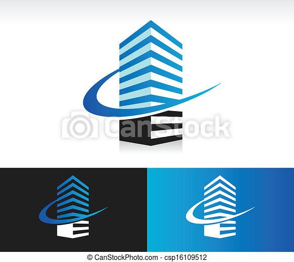 здание, галочка, современное, значок - csp16109512