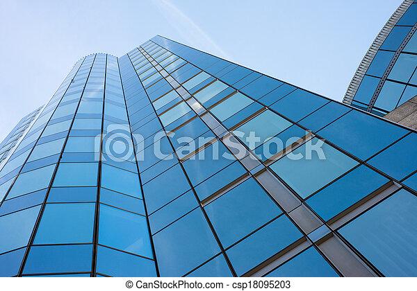 здание, синий, современное, небо, против - csp18095203