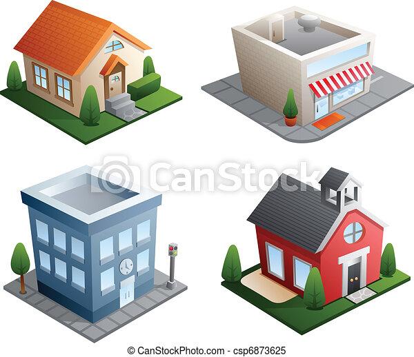 здание, illustrations - csp6873625