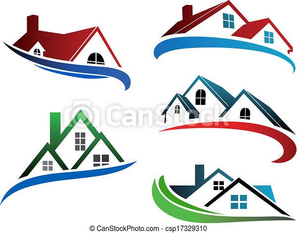здание, symbols, roofs, главная - csp17329310