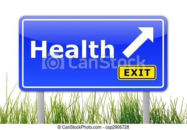 здоровье, дорога, знак - csp2906728