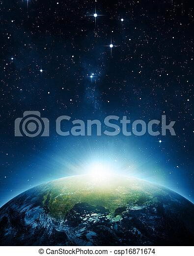земля, восход - csp16871674