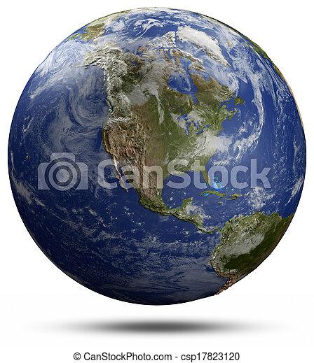 земля, земной шар, -, usa - csp17823120