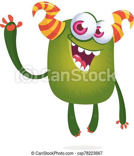 инопланетянин, иллюстрация, день всех святых, eyes., веселая, большой, мультфильм - csp78223667