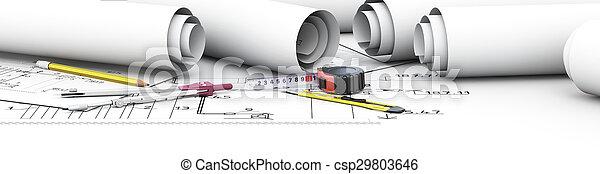 инструменты, инжиниринг, дизайн, architect. - csp29803646