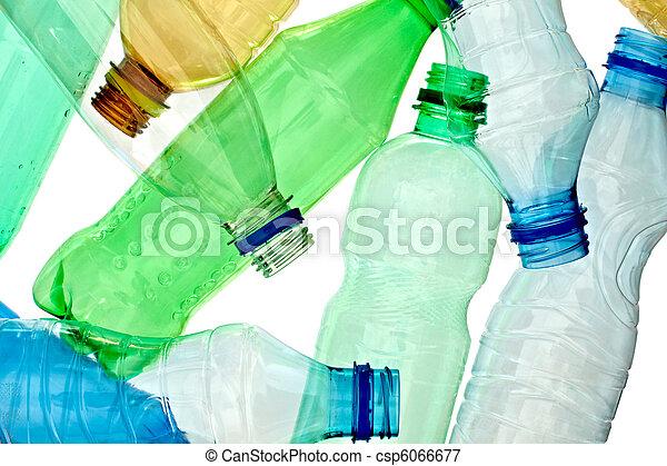 используемый, окружающая среда, экология, бутылка, мусор, пустой - csp6066677