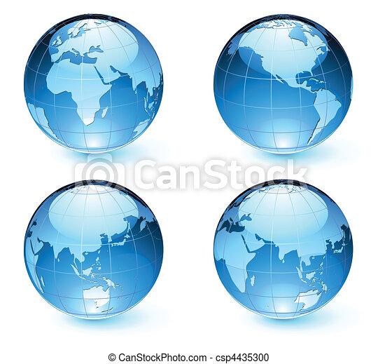 карта, земля, globes, глянцевый - csp4435300