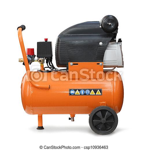 компрессор, isolated, воздух - csp10936463