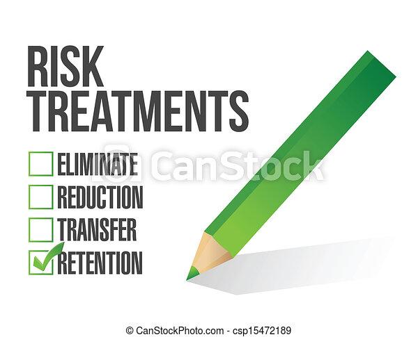 контрольный список, риск, иллюстрация, лечение - csp15472189