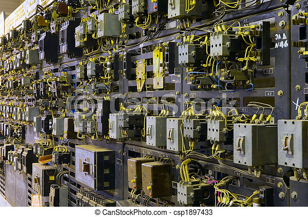 контроль, свод, трансформатор, консоль, электрический - csp1897433