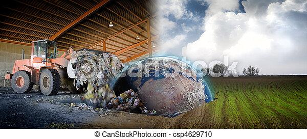 концепция, лом, сайт, планета, экология, промышленные, земля - csp4629710