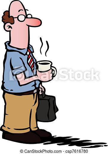 кофе, бизнес, /, наемный рабочий, having, человек - csp7616780