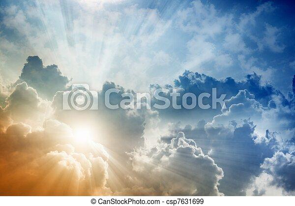красивая, небо - csp7631699