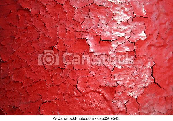 красный, cracking, покрасить - csp0209543
