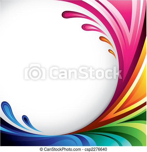 красочный, задний план - csp2276640