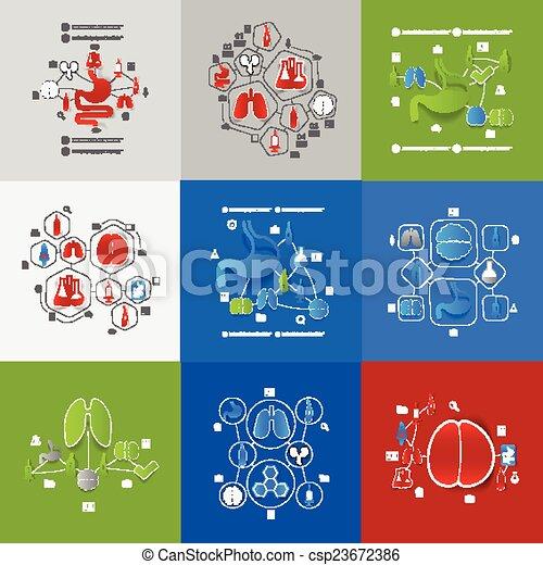 лекарственное средство, наклейка, infographic - csp23672386