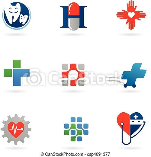 лекарственное средство, health-care, icons - csp4091377