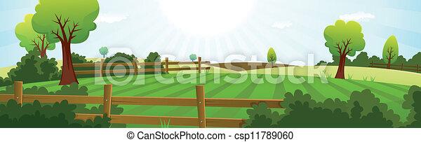 лето, сельское хозяйство, сельское хозяйство, пейзаж - csp11789060