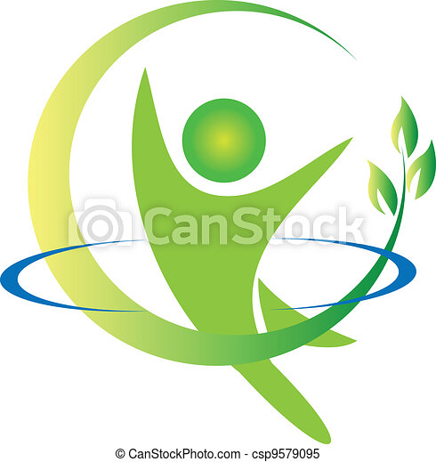 логотип, вектор, здоровье, природа - csp9579095