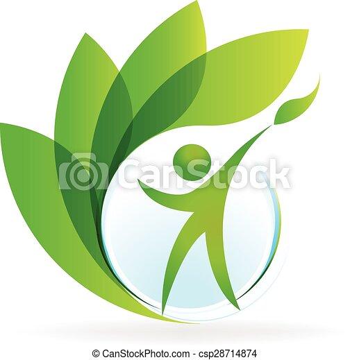логотип, вектор, здоровье, природа - csp28714874