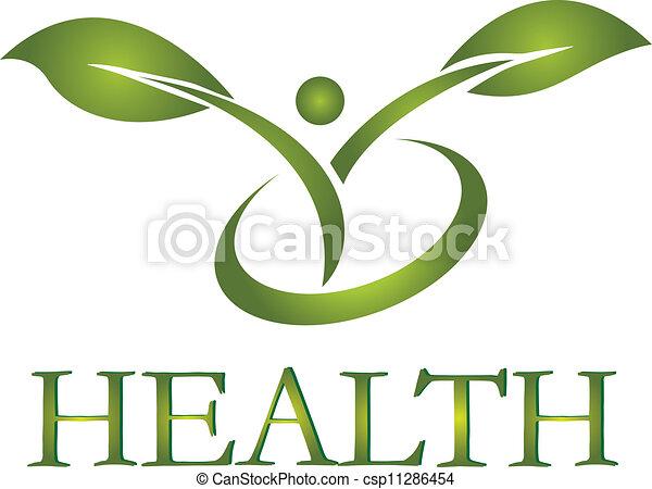 логотип, здоровый, вектор, жизнь - csp11286454